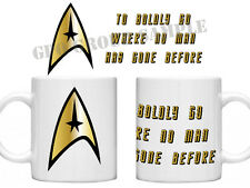Star Trek USS Enterprise Vovelty Retro Movie Film Novelty Tea Coffee Mug Cup