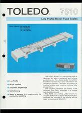 Super Rare Vintage Original Toledo Scale Brochure: 7510 Motor Truck Scales