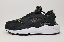 dffb42a682bf1 Nike Air Huarache Run Womens Cross Training Running Shoes Leopard Black  Size 6