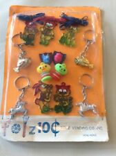 Vtg Foltz Vending Fish Horse Keychains Googly Eye Fish Metal Clad Heads Charms