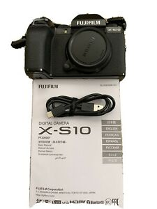 Fujifilm X-S10 26.1MP Mirrorless Camera - Black (Body Only)