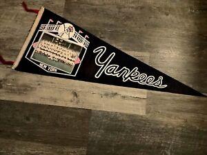 Original 1964 New York Yankees Baseball Photo Pennant- Mantle! Fair