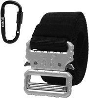 Tactical Rigger Belt,Military Tactical EDC Belt Quick Release Metal Buckle Black