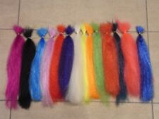 14 X 30CM HANKS 0F CRINKLE SUPER HAIR FOR PIKE/BASS/MUSKY FLIES,SALT WATER FLIES
