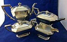 Gorham Sterling Silver Fairfax Coffee & Tea Set 1772 grams w/ monos no reserve!