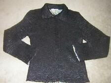ALBERTO MAKALI Women's Zip-up Sheered Sweater/Shirt/Top Sz MED (Reversible)