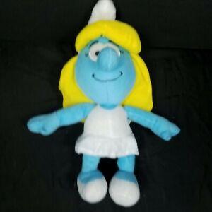 "Smurfette The Smurfs Blue White Yellow Girl Plush Stuffed Animal 15"" Kellytoy"