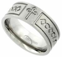 Titanium Ring Men Women Wedding Band Thumb Flat Design Comfort Fit Brushed 5mm