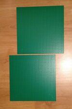 Lego 2 Base Plate Boards Green 32 x 32 Studs Genuine Lego Pre 2015 Shade