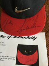 "TIGER WOODS Signed NIKE Golf Hat Cap AUTO "" To JB "" PSA LOA ! @ PATRICK MAHOMES"