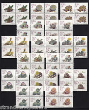 South Africa - 1988 Succulents (To 2r) - U/M - SG 654-668 in BLOCKS of FOUR