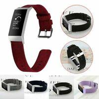 Nylon Sport Armband Uhrenarmband Ersatzarmband Uhr Strap Für Fitbit Charge 3 MV