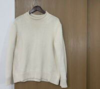 J.Crew Always Womens Roll Neck 1988 Cotton Sweater Cream Ivory Size L Large