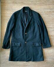 APC men's black wool houndstooth coat size large/ L