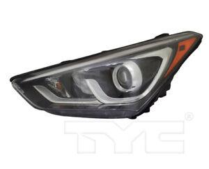 TYC Left Side Halogen Headlight For Hyundai Santa Fe Sport w/ LED BAR 2017-2018