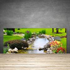 Küchenrückwand aus Glas ESG Spritzschutz 125x50cm Garten See Natur