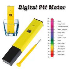 Digital PH Medidor Probador Pluma Bolsillo Medida LCD SPA Acuario Agua Avanzada