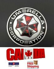Aluminum Car Badge Chrome Resident Evil Dirty Logo Emblem Umbrella Corporation