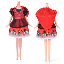 A girls toy doll BARBIE red riding hood dress princess new outfits dresses BC4