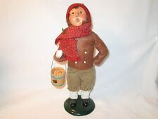 Byers Choice 1997 Cute Traditional Boy with Apple Bucket