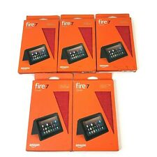 Lot 5 Covers Cases Amazon Fire 7 Punch Red 7th Generation 2017 Release Authentic