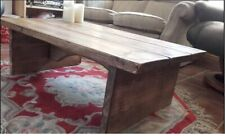 Rustic chunky solid pine table coffee