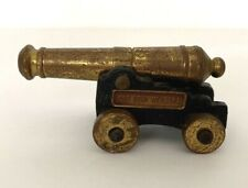 Vintage Old Fort Niagara Cast Iron And Brass Miniature Canon Replica