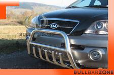 KIA SORENTO I 2006-2009 PARE-BUFFLE BAS AVEC GRILLE DE PROTECTION CARTER EN INOX