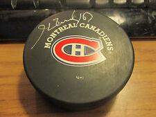 MONTREAL CANADIENS Henri Richard Black Logo Signed Official Hockey Puck