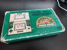 NINTENDO GAME & WATCH G&W BOXED - GREEN HOUSE - MULTI SCREEN WORKING