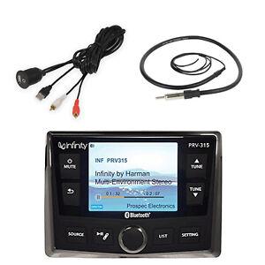 PRV315 Marine Infinity Bluetooth Radio, Antenna, USB AUX Interface