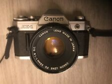 Canon AE-1 35mm SLR Camera w 50mm F 1.8 Lens Japan