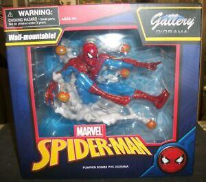 SPIDER-MAN PUMPKIN BOMBS MARVEL GALLERY PVC DIORAMA FIGURE - WALL-MOUNTABLE!
