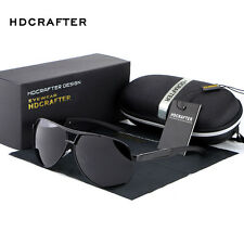 Retro HD Polarized Sunglasses Men's Pilot Metal Outdoor Driving Eyewear Glasses