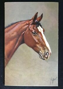 Chestnut Horse~ Stehli Art Postcard No.153~A/S Unused-c810