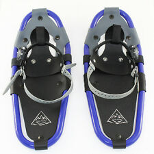 "19"" All Terrain Hiking Snow shoes Men Women Kids Youth Snowshoes Blue/Black 7x19"