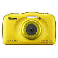 New Nikon COOLPIX W100 13.2 MP Waterproof Shockproof Digital Camera (Yellow)