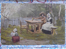 Gast Kind Garten Gemälde Kunstwerk Postkarte Ansichtskarte 3023