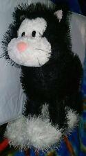 ✴ People Pals Black/White Calico Cat Kitten Kitty Plush Stuffed Animal Long Hair