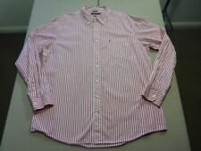 028 MENS NWOT NAUTICA WHITE / RED STRIPED L/S SHIRT SZE XXL $110 RRP.