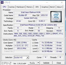 Neues AngebotIntel Xeon Platinum 8156 QS QMRQ 3.6GHz 4 Core 105W LGA3647 CPU