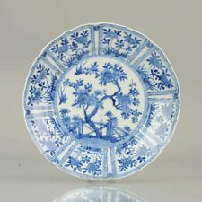 Antique Chinese Porcelain Plate Kangxi Flowers Early Qing Dynasty Incens...