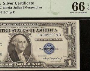 GEM 1935 A $1 DOLLAR BILL SILVER CERTIFICATE NOTE PAPER MONEY Fr 1608 PMG 66 EPQ