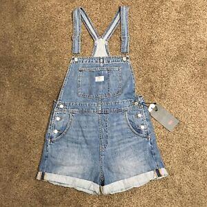 Levi's Women's Free Ride Medium Wash Vintage Shortalls Overalls Multi Sizes