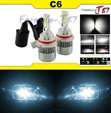 LED Kit C6 72W 9007 HB5 6000K White Two Bulbs Head Light Dual High Low Beam Lamp