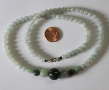 "100% Natural Grade A Chinese Jadeite JADE Beautiful Necklace 19"" #N211"