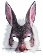 Rabbit Mask 3D Screen Print Realistic Look Soft Face Mask Fun Fur Adult Or Child