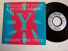 "YOUSSOU N'DOUR & PETER GABRIEL Shakin' the tree / Old Tucson 7"" 45T VIRGIN 90515"
