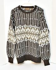 Men's Sweater Eleven Sixty Six Size Large Long Sleeve Gray & White Wool Blend