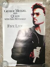 93' Collectible! Five Live Promo Poster George Michael Queen NEAR MINT!!!!!
